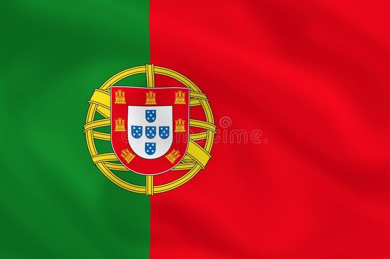 Bandeira de Portugal ilustração stock