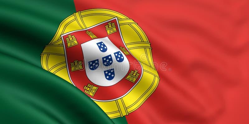 Bandeira de Portugal ilustração do vetor