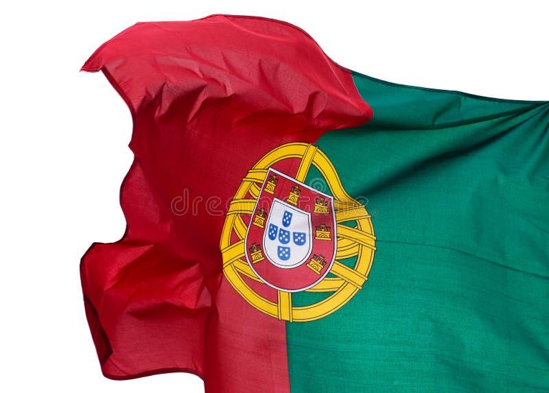 Bandeira de Portugal no fundo branco imagens de stock