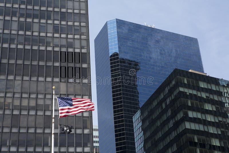 Bandeira de POW/MIA em Manhattan fotografia de stock