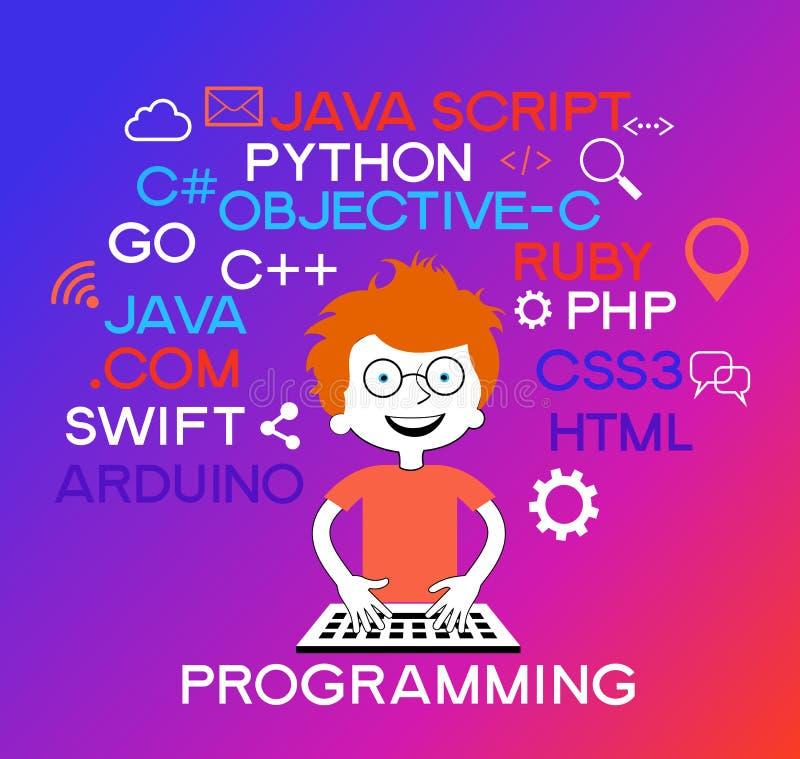 Bandeira de programação da Web ilustração royalty free