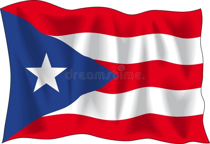 Bandeira de Puerto Rico ilustração stock