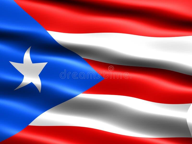 Bandeira de Puerto Rico ilustração do vetor
