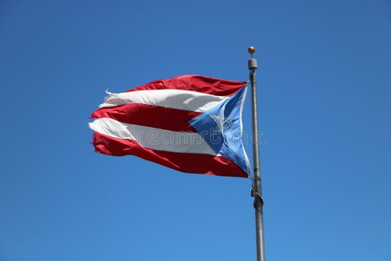 Bandeira de Puerto Rico foto de stock royalty free