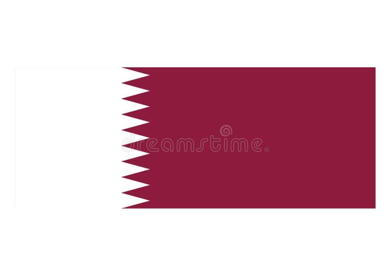 Bandeira de qatar ilustração do vetor