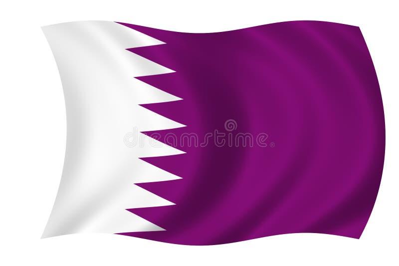 Bandeira de qatar ilustração stock