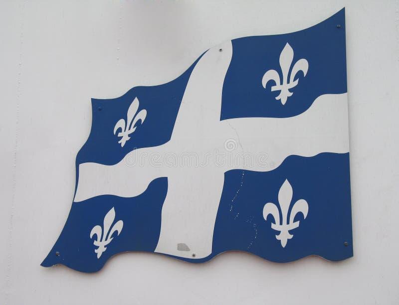 Bandeira de Quebeque imagem de stock royalty free