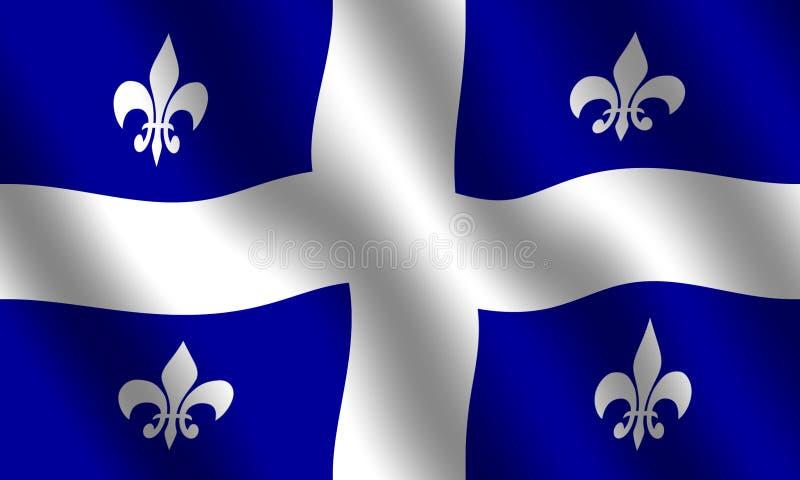 Download Bandeira de Quebeque ilustração stock. Ilustração de bandeira - 51993