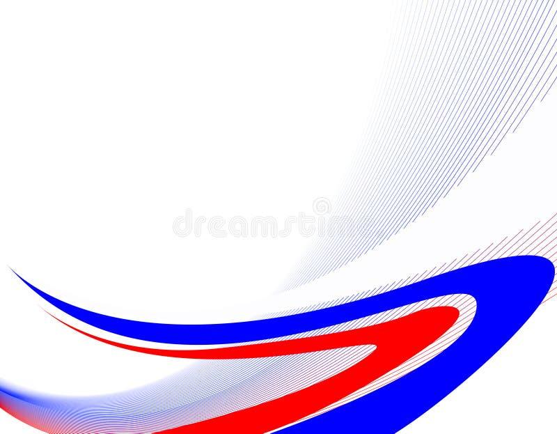 A bandeira de Rússia. ilustração stock