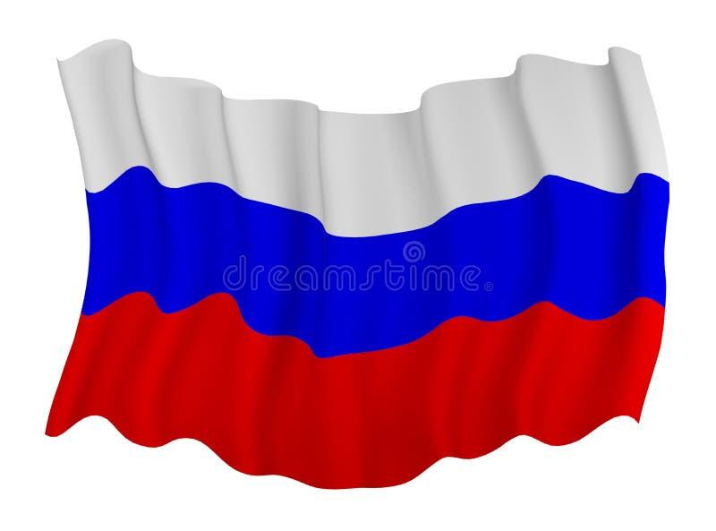Bandeira de Rússia ilustração royalty free