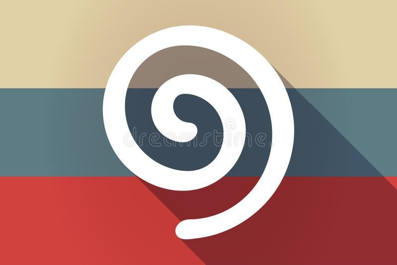 Bandeira de Rússia da sombra da ONG com uma espiral ilustração royalty free