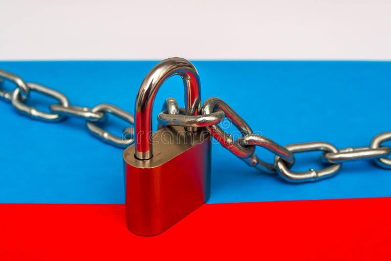 Bandeira de Rússia e do fechamento 3 imagens de stock royalty free