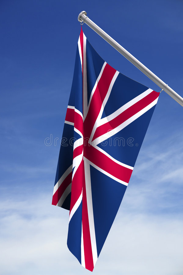 Bandeira de Reino Unido ilustração do vetor