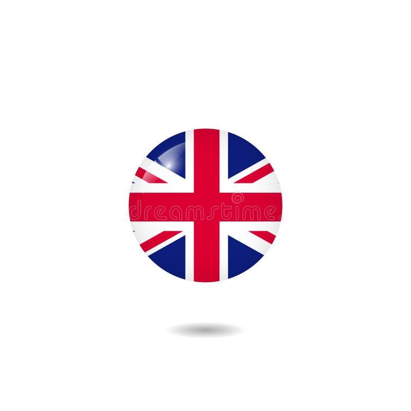 Bandeira de Reino Unido fotografia de stock