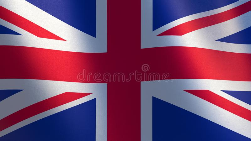 Bandeira de Reino Unido ilustração 3d da bandeira de ondulação de Reino Unido ilustração royalty free