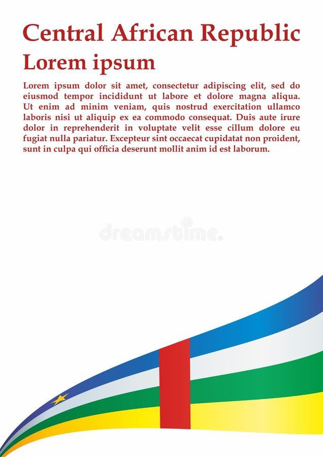 Bandeira de República Centro-Africana, República Centro-Africana Molde para o projeto da concessão, um documento oficial com a ba ilustração do vetor