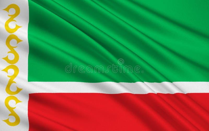Bandeira de Republic of Chechnya, Federação Russa ilustração royalty free