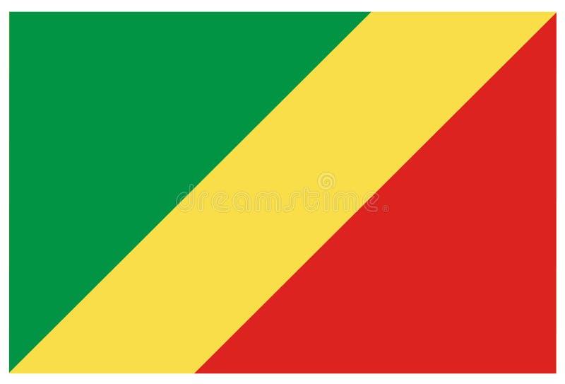 Bandeira de Republic Of The Congo ilustração do vetor