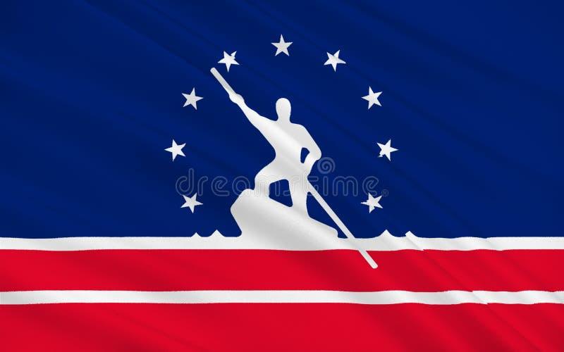 Bandeira de Richmond em Virgínia, EUA ilustração royalty free