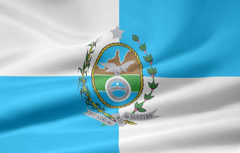 Bandeira de Rio de Janeiro ilustração stock