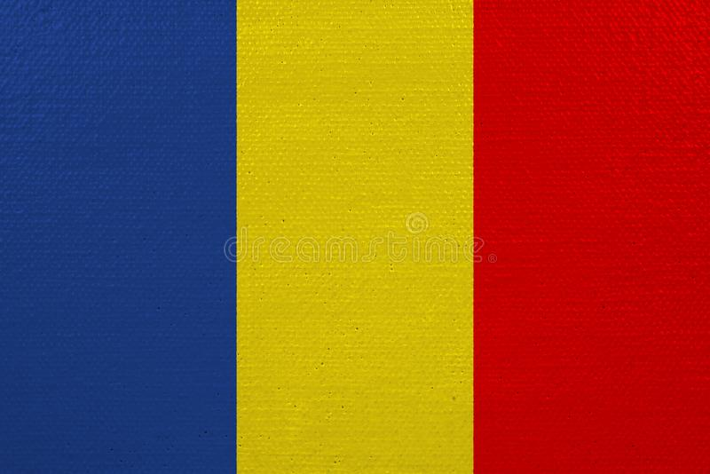 Bandeira de Romênia na lona ilustração royalty free