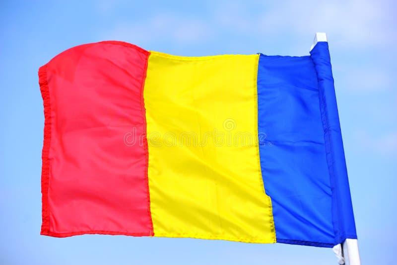 BANDEIRA DE ROMANIA imagem de stock
