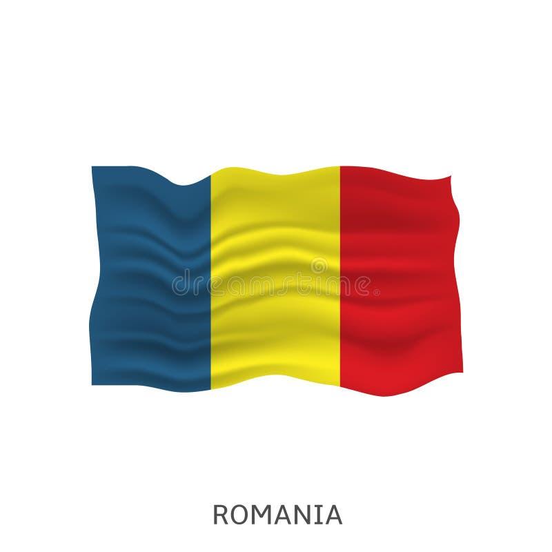 Bandeira de romania ilustração stock