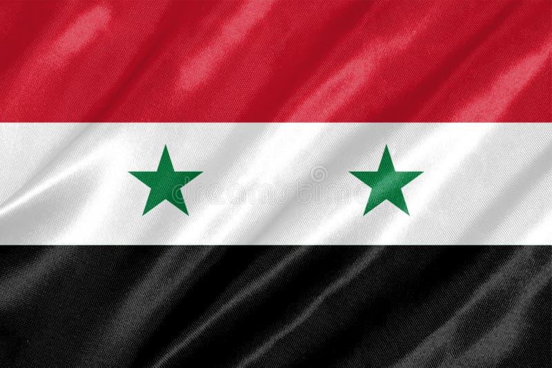 Bandeira de Síria ilustração stock