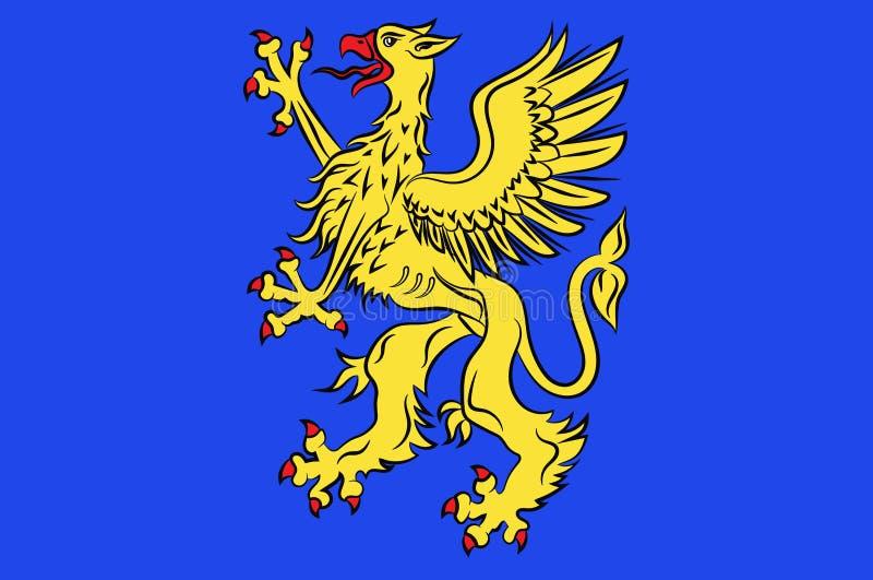 Bandeira de Saint Brieuc nas costas-dArmor de Brittany, França ilustração royalty free