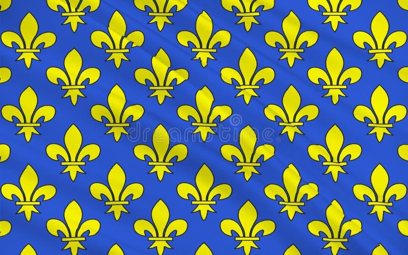 Bandeira de Saint Denis, França ilustração stock