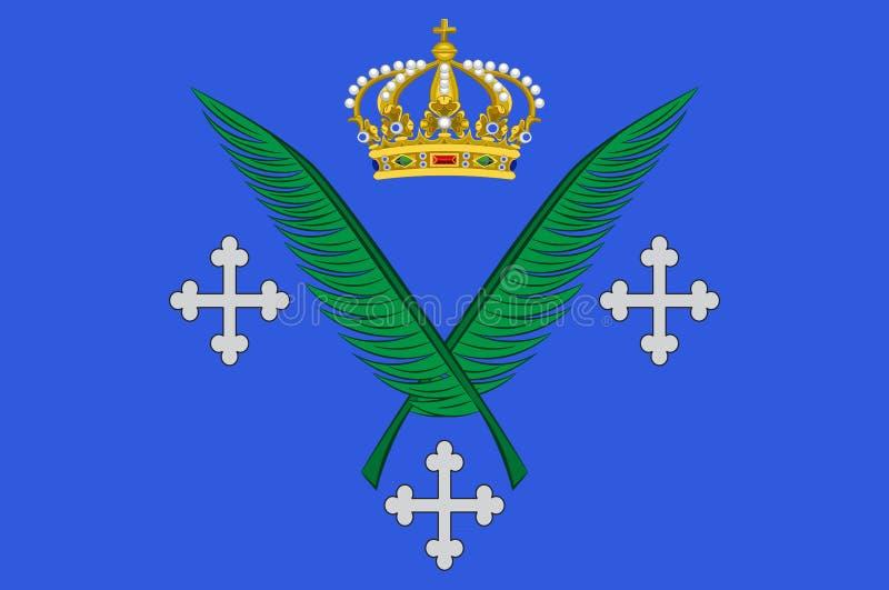 Bandeira de Saint Etienne em Loire da região de Auvergne-Rhone-Alpes em França ilustração royalty free
