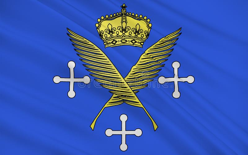 Bandeira de Saint Etienne, França ilustração do vetor