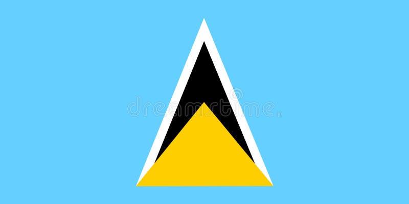 Bandeira de Saint Lucia ilustração do vetor