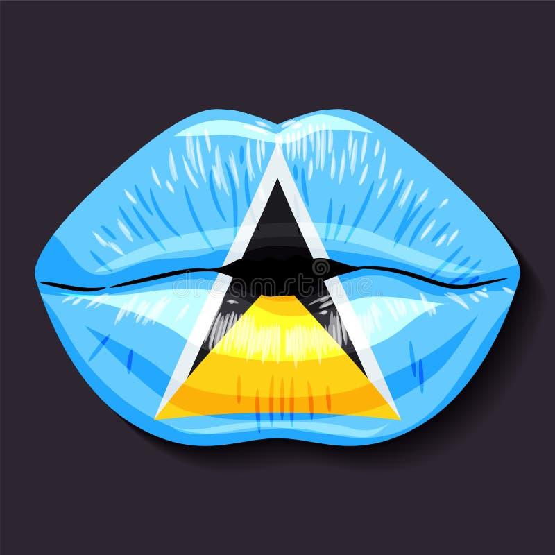 Bandeira de Saint Lucia ilustração stock