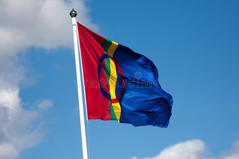 Bandeira de Sami foto de stock royalty free