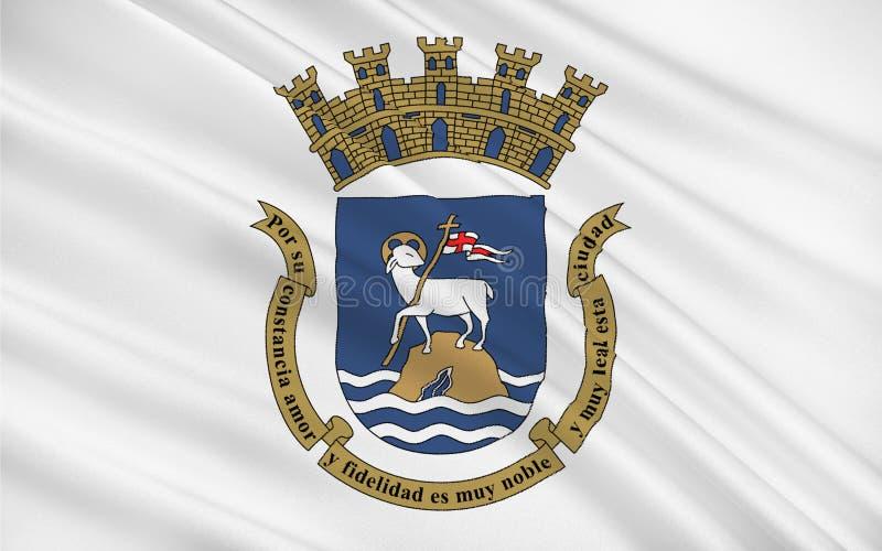 Bandeira de San Juan, Porto Rico, EUA ilustração stock
