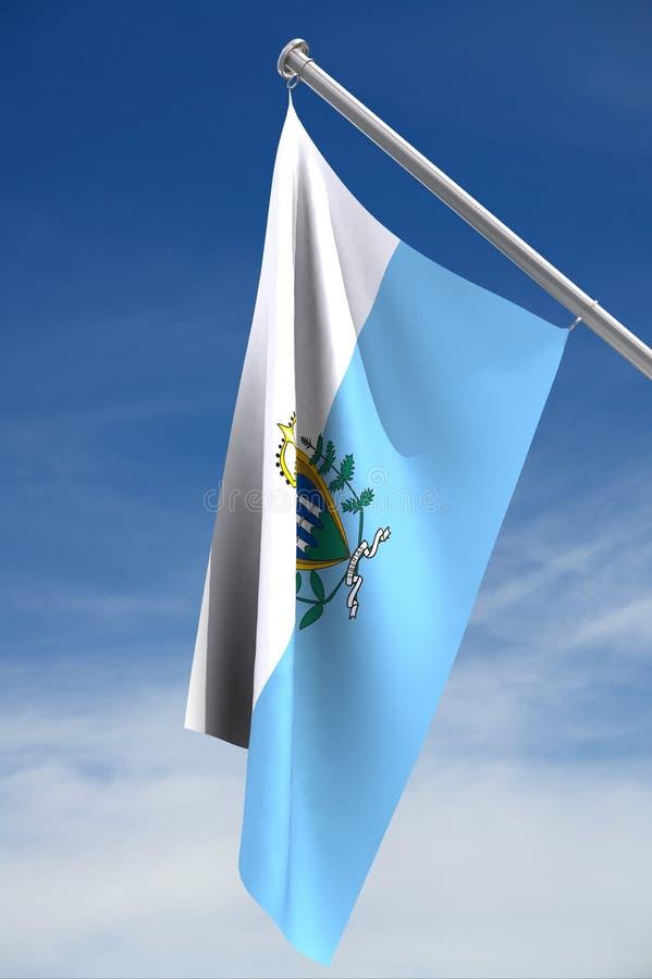 bandeira de San Marino/trajeto de grampeamento ilustração do vetor