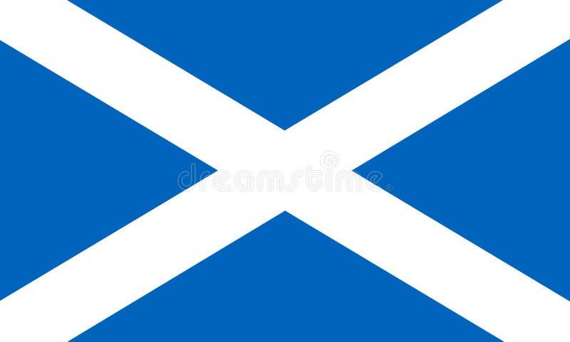 Bandeira de Scotland ilustração royalty free
