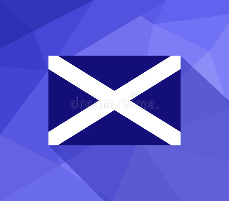 A bandeira de scotland ilustrou ilustração do vetor