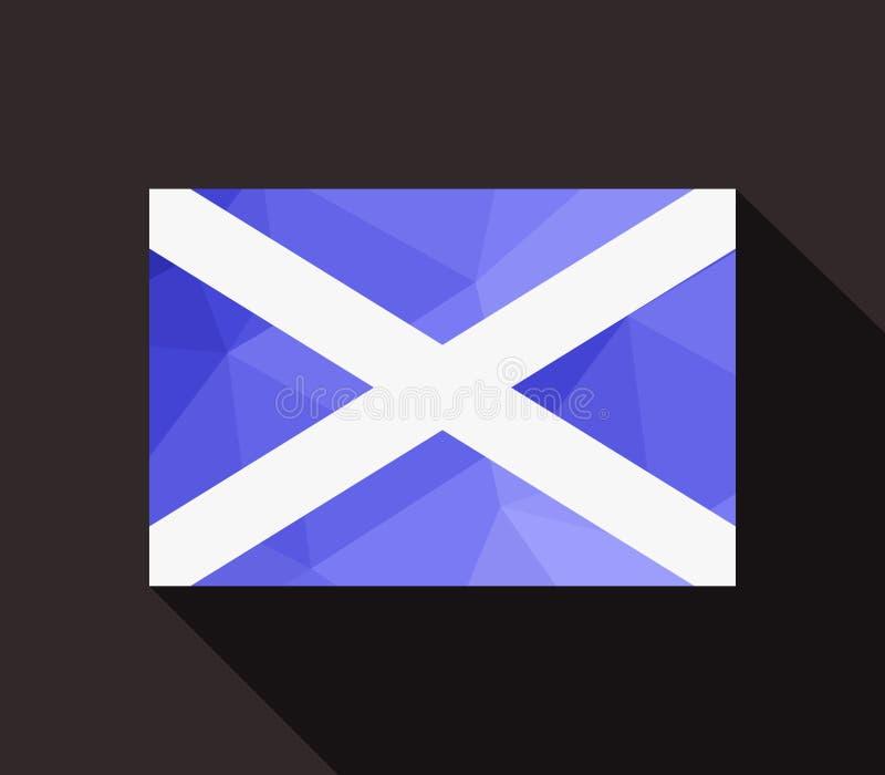 A bandeira de scotland ilustrou ilustração stock