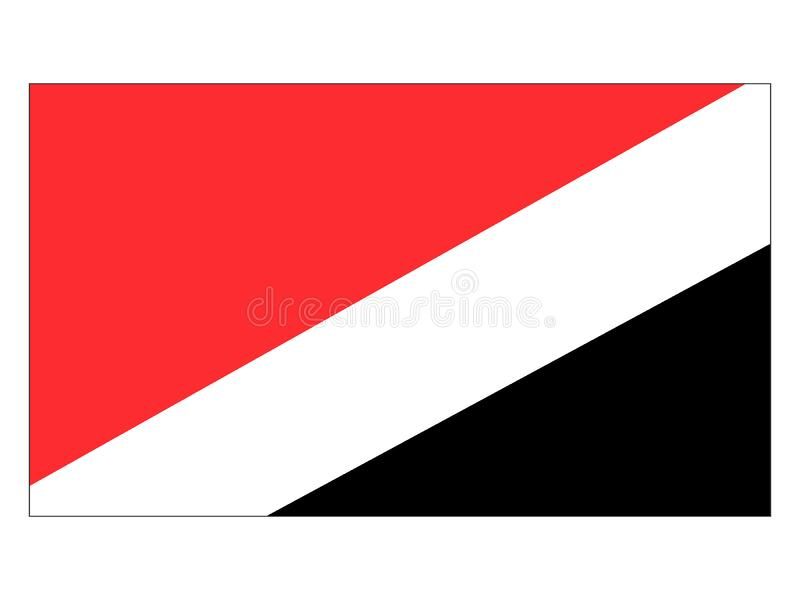 Bandeira de Sealand ilustração do vetor