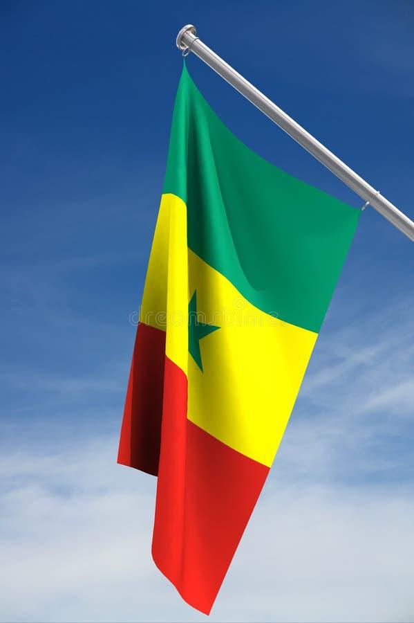 Bandeira de Senegal foto de stock