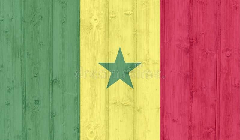 Bandeira de Senegal imagem de stock