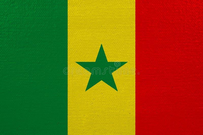 Bandeira de Senegal na lona ilustração royalty free
