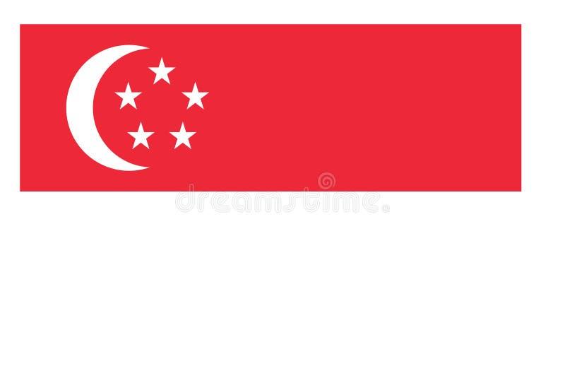 Bandeira de Singapore ilustração royalty free
