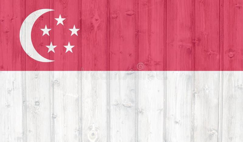 Bandeira de Singapore ilustração stock