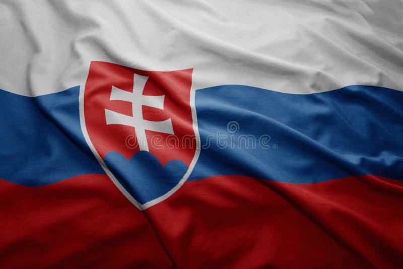 Bandeira de Slovakia foto de stock royalty free