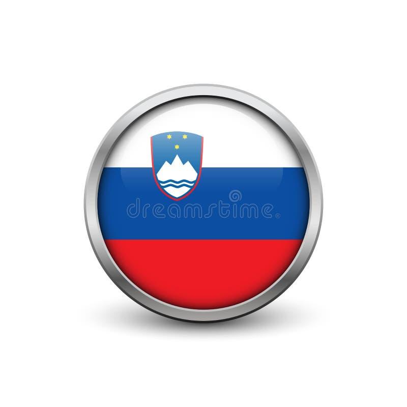 Bandeira de Slovenia ilustração do vetor