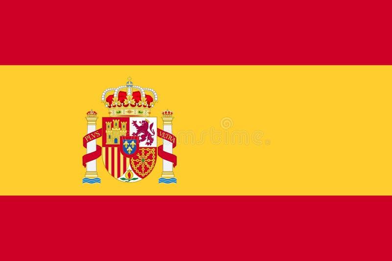 Bandeira de Spain ilustração do vetor