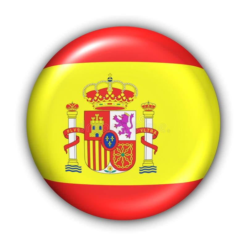 Bandeira de Spain ilustração stock